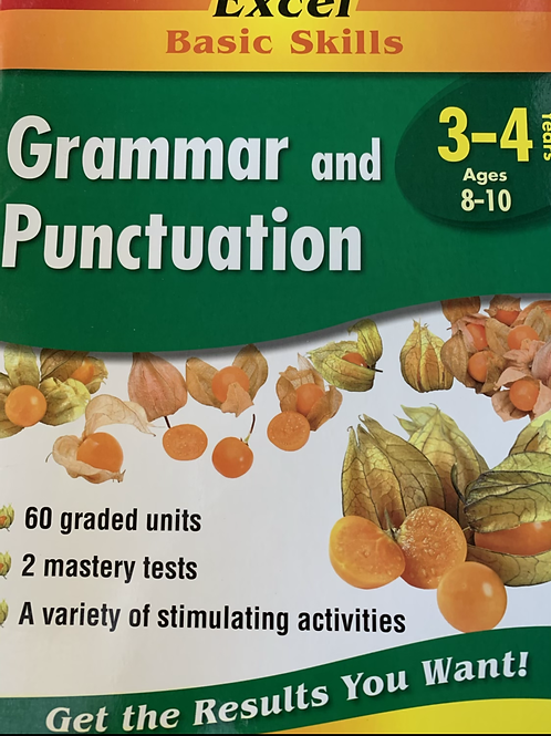 Excel Grammar and Punctuation Year 3-4 Ages 8-10