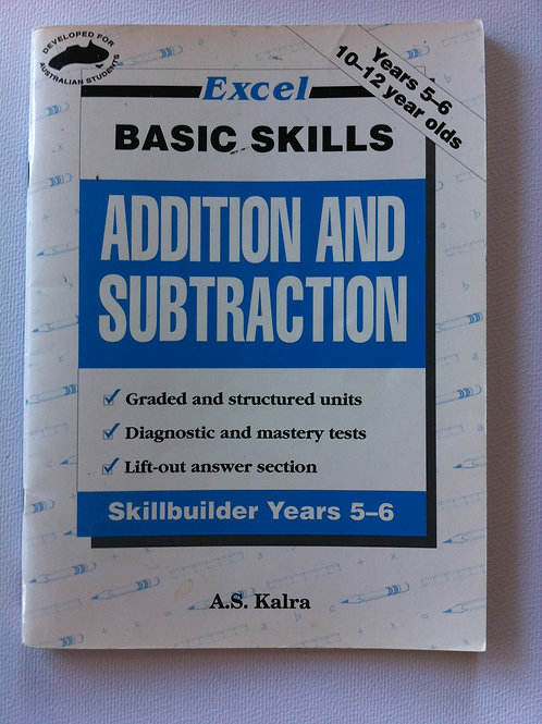 Excel: Addition & Subtraction Years 5-6  $8.00