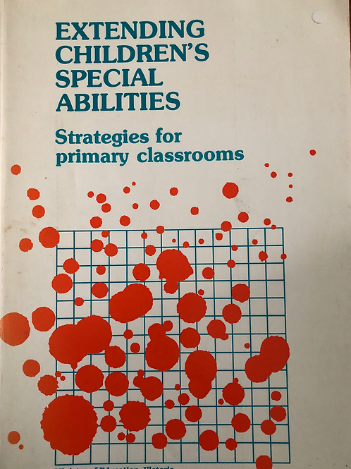 Extending Children's Special Abilities Strategies For Primary Classrooms
