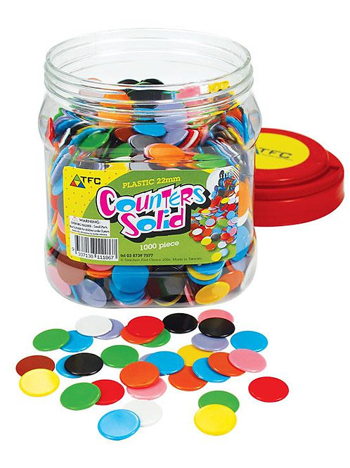 Counters 22mm Solid 1000 PET Jar