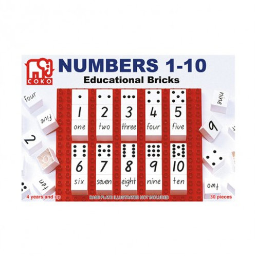 COKO Numbers 1-10 Bricks 30 Pieces