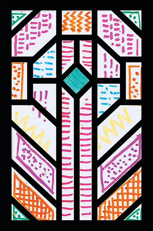 Cardboard Stained Glass Frames A4 Pkt of 5 $3.95
