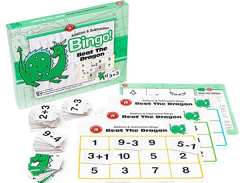 Bingo Beat The Dragon (Addition & Subtraction)