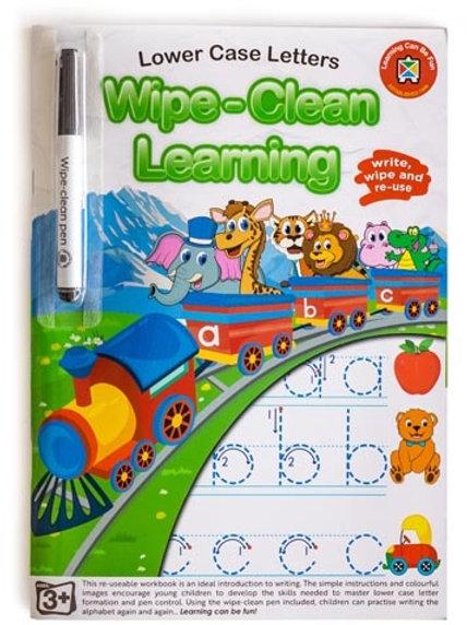 Wipe Clean Lower Case Letters Workbook