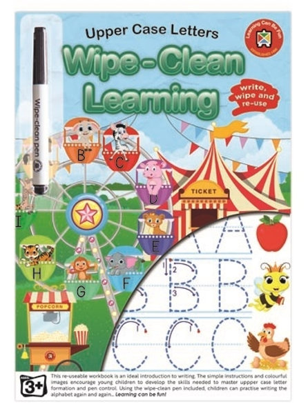 Wipe Clean Upper Case Letters Workbook