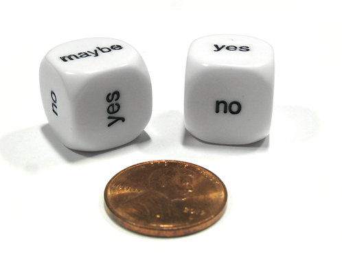 Yes No Maybe 16mm Dice 4pk