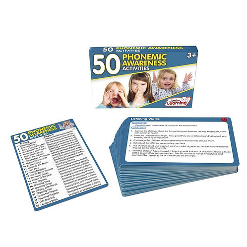 50 Phonemic Awareness Activity Cards