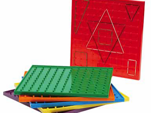 Geoboard Large Set of 6 includes 20 Elastic Bands