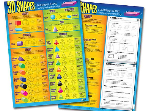 3D Shapes Double Sided Wall Chart (TFC)