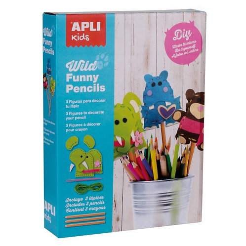 APLI Kids Wild Funny Pencil Toppers Craft Kit