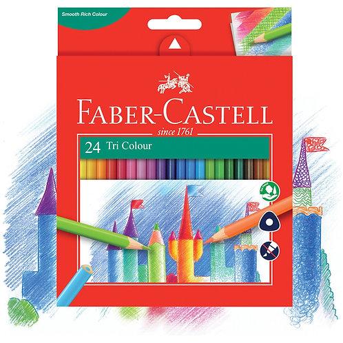Faber-Castell Tri Colour Pencil 24pk