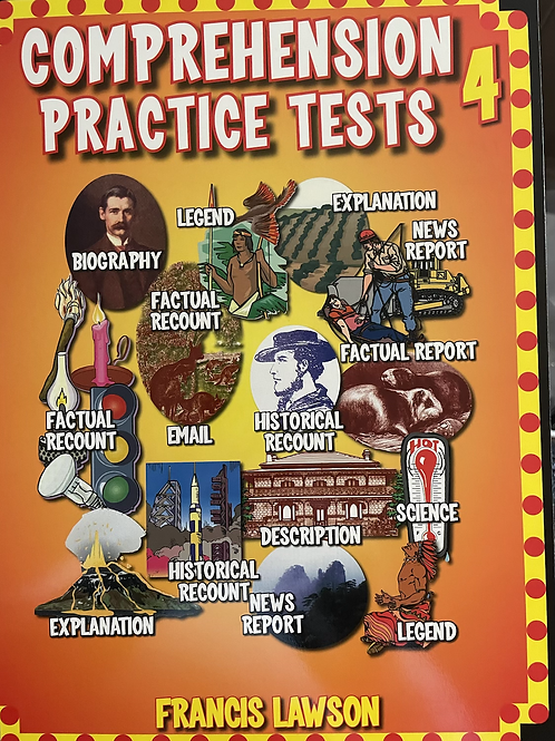 Comprehension Practixe Tests 4 by Francis Lawson Years 4/5