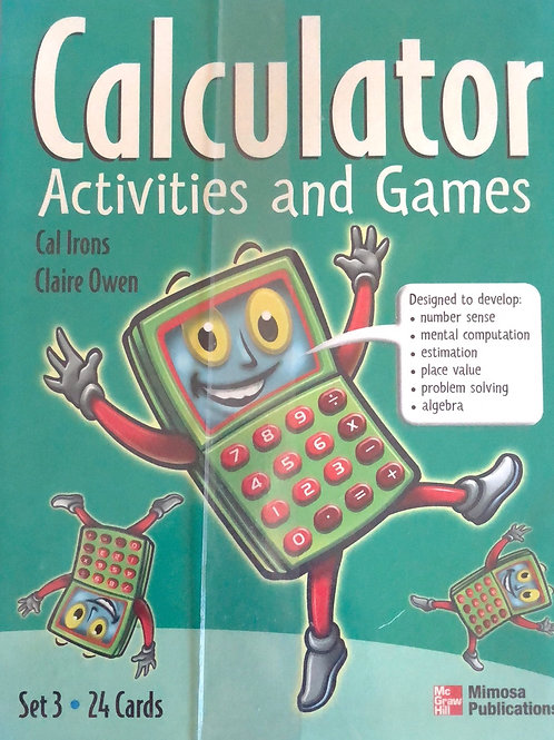 Calculator Activities & Games A4 Laminated Cards