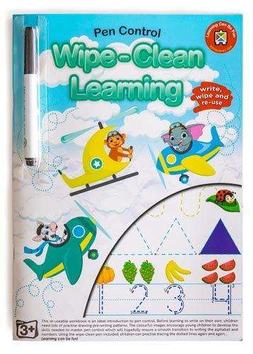 Wipe Clean Pen Learning Control Letters Workbook