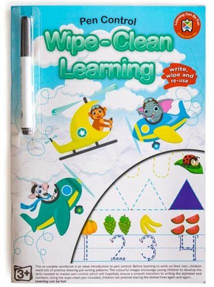 Wipe Clean Learning Pen  Control Letters Workbook