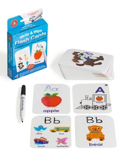 Write N Wipe Flashcard Alphabet & Early Numbers plus Dry Erase