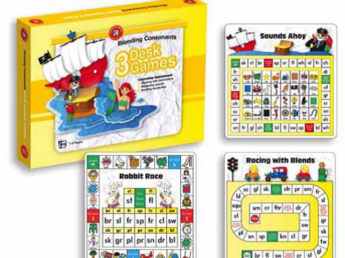 Blending Consonants Desk Games Box of 3