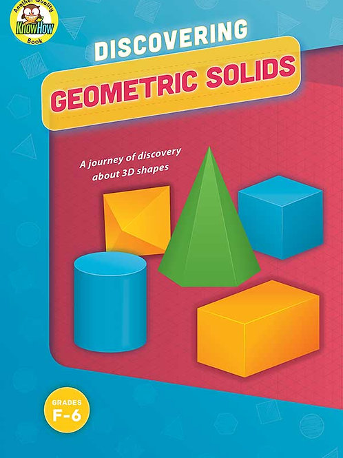 Discovering Geometric Solids Book BLM's $18.50