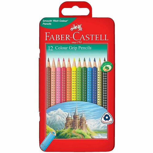 Faber-Castell 12 Colour Pencils Triangular Tin Set