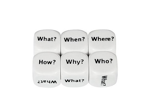 Dice Interrogative What? When? How? 16mm 2pk