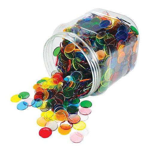 Counters Transparent 22mm 1000 Pieces PET Jar