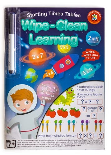 Wipe Clean Starting Times Tables Workbook