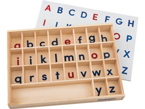 Alphabet Sorting Tray Wooden