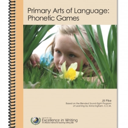 IEW Primary Arts of Language Phonetic Games