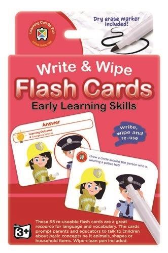 Write N Wipe Flashcard Early Learning Skills plus Dry Erase