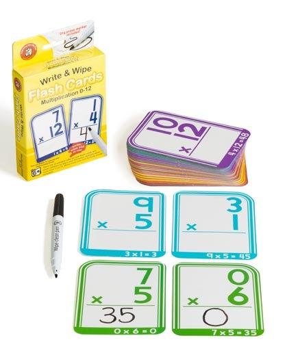 Write N Wipe Flashcard Multiplication plus Dry Erase