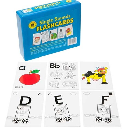 Single Sounds Flashcards Early Reading 52 Cards