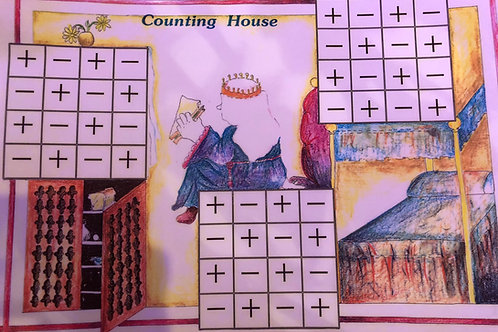 Counting House Additional & Subtraction Game (A3 Laminated)