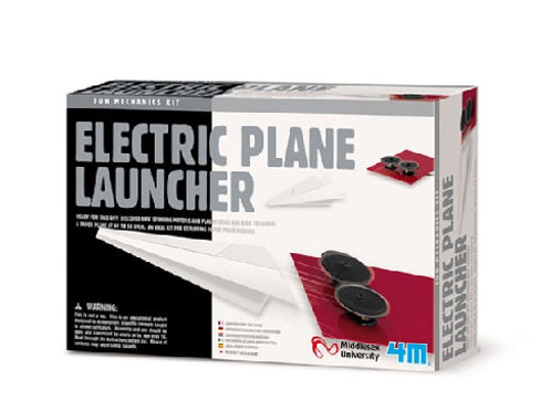 4M Electric Plane Launcher Mechanics Fun Kits