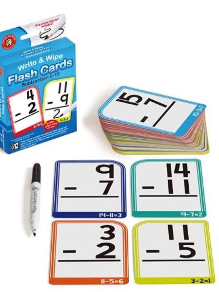 Write N Wipe Flashcard Subtraction plus Dry Erase