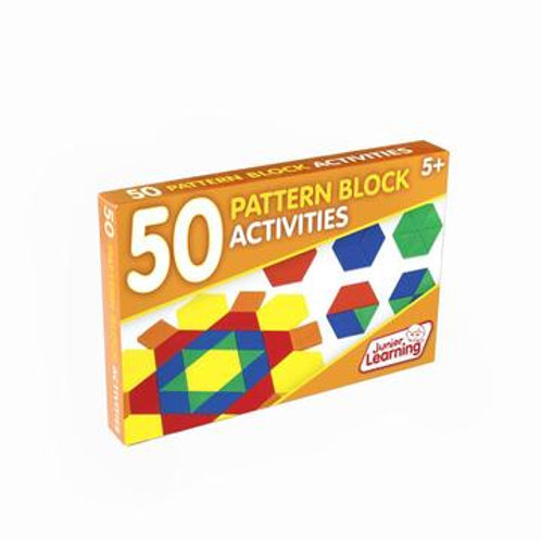 50 Pattern Block Activities Cards - Junior Learning