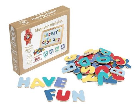 Premium Wooden Magnetic Alphabet ABC Letters 60 pieces $22.95