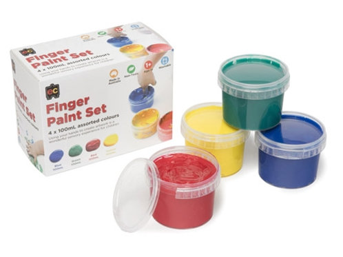Finger Paint 4 x 100ml Colour Set