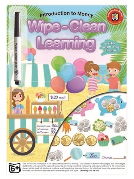 Wipe Clean Introduction to Money Workbook