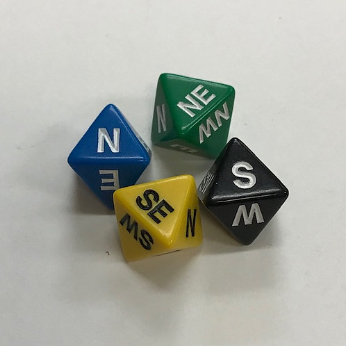 Compass Dice 16mm 4pk