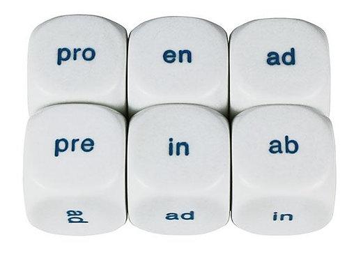 Dice 6 Face Prefixes (en, pro, pre, in, ad & ab) Pkt of 2 $4.95