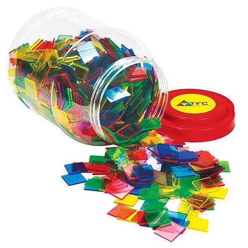 Colour Tiles Transparent 2.5cm  50 per bag