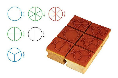 Stamp: Fraction Circles 6 pieces  $22.00