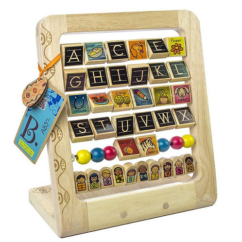 Battat Wooden Alphabet & Numbers Stand