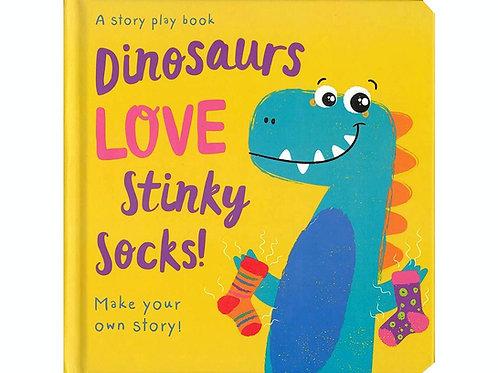 Dinosaurs Love Stinky Socks! by Jenny Copper Hardcover