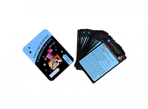 The Crazy Scientist Young Researchers Science Trick Cards