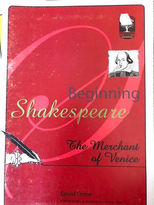 Beginning Shakespeare The Merchant of Venice by David Orme