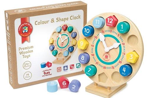 Colour & Shape Wooden Clock $41.50