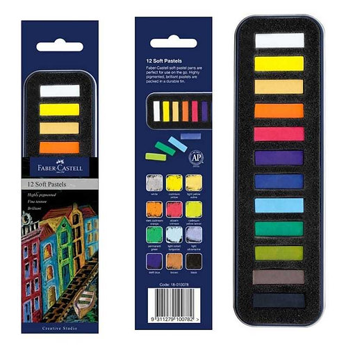 Faber-Castell Soft Pastels Tin of 12