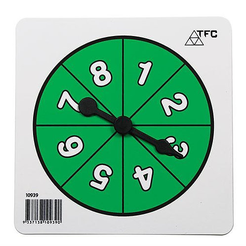 Spinner Number 1-8 (1 piece) $2.00