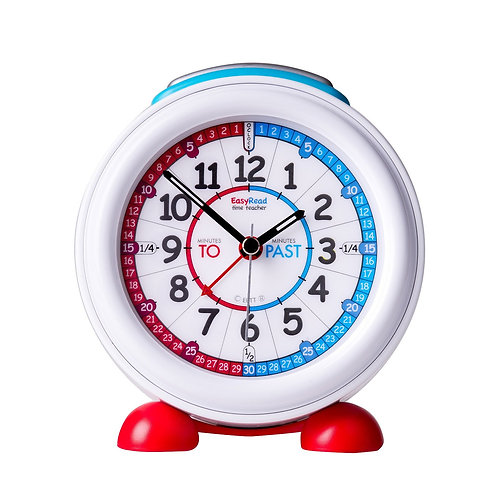 EasyRead Alarm Clock, Red/Blue Past & To